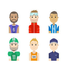 simple people avatar man sports character vector image vector image