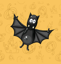 226 black cartoon bat vector image