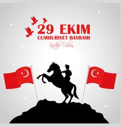 29 october day republic turkey vector