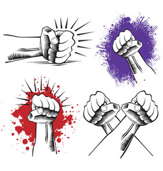 a punching fighting fist vector image