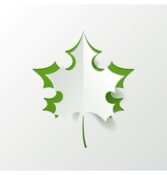 Abstract Green Maple Leaf Isolated on White vector