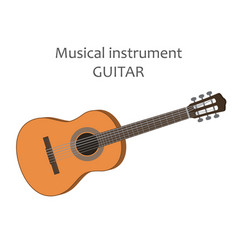 Acoustic guitar of classical vector