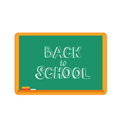 back to school text design vector image