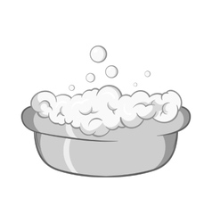 Bath for baby icon black monochrome style vector image