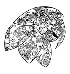 Beautiful parrots with flowers ornament for vector