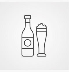 beer icon sign symbol vector image