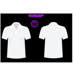 blank black t-shirt template vector image