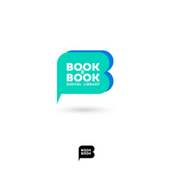 book club logo digital library emblem vector image