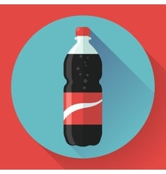 Bottle of cola soda Flat vector