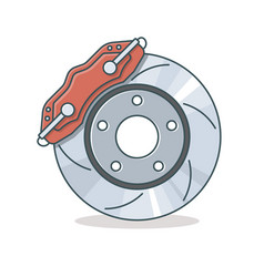 Brake disc icon vector