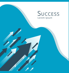 business arrows concept to success growth chart vector image