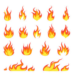 cartoon fire flame fires image hot flaming vector image