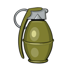 cartoon of a hand grenade vector image