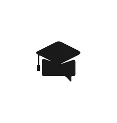 chat graduation cap logo designs inspiration vector image