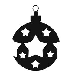 Christmas ball simple icon vector