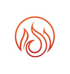 circular flames emblem symbol design vector image