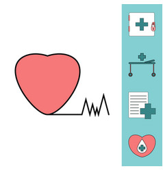Collection of icons and medical icons vector