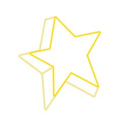 color line cute bright star art design vector image