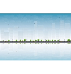 Colorful city panorama vector image