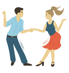 couple action dancer moving dance hob vector image