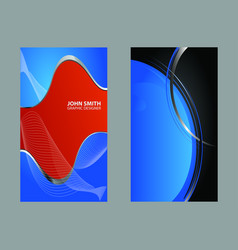 dark blue business card vector image