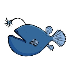 deep-sea fish vector image