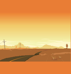 Desert landscape poster background vector