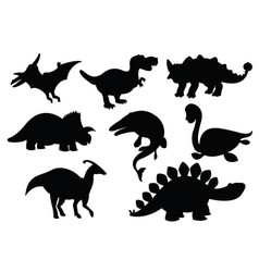 Dinosaurs and jurassic dino monsters icons vector