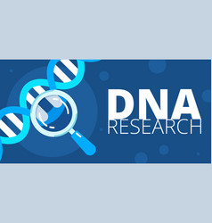 dna research vector image