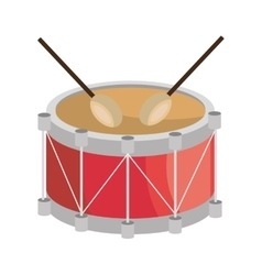 Drum music instrument icon design vector image