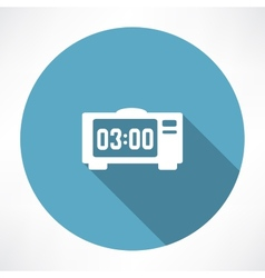 Electronic clock icon vector
