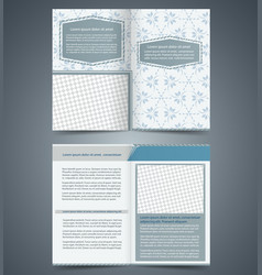 Empty bifold brochure template vector