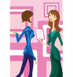 female talk vector image