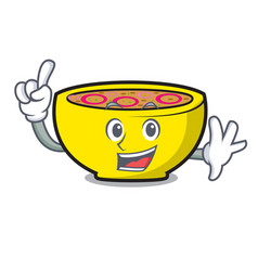 finger soup union mascot cartoon vector image