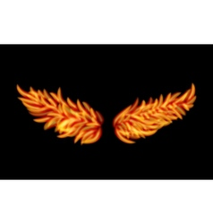 Flame Wings vector image