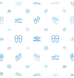flops icons pattern seamless white background vector image