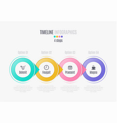 Four steps infographic timeline presentation vector