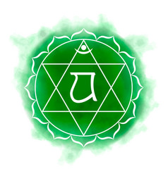 fourth heart chakra - anahata vector image