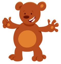 funny bear cartoon animal character vector image