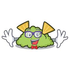 Geek guacamole character cartoon style vector