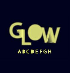Glow halftone font alphabet a b c d e f g h vector