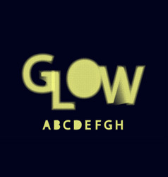 glow halftone font alphabet a b c d e f g h vector image