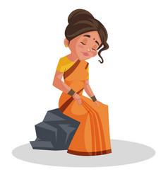 Goddess sita cartoon character vector