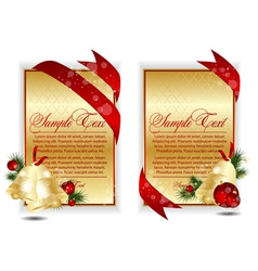 gold christmas banners vector image