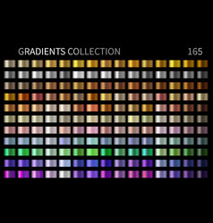 gradients collection gold golden silver vector image