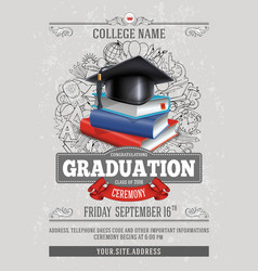 Graduation template vector image