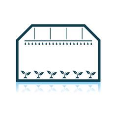 Greenhouse icon vector