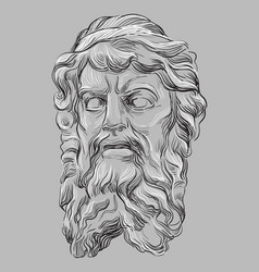 Grey stone face 2 vector