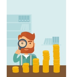 Growing business in financial aspects vector image