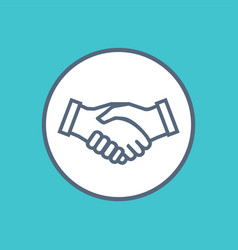 handshake icon symbol collaboration partnership vector image